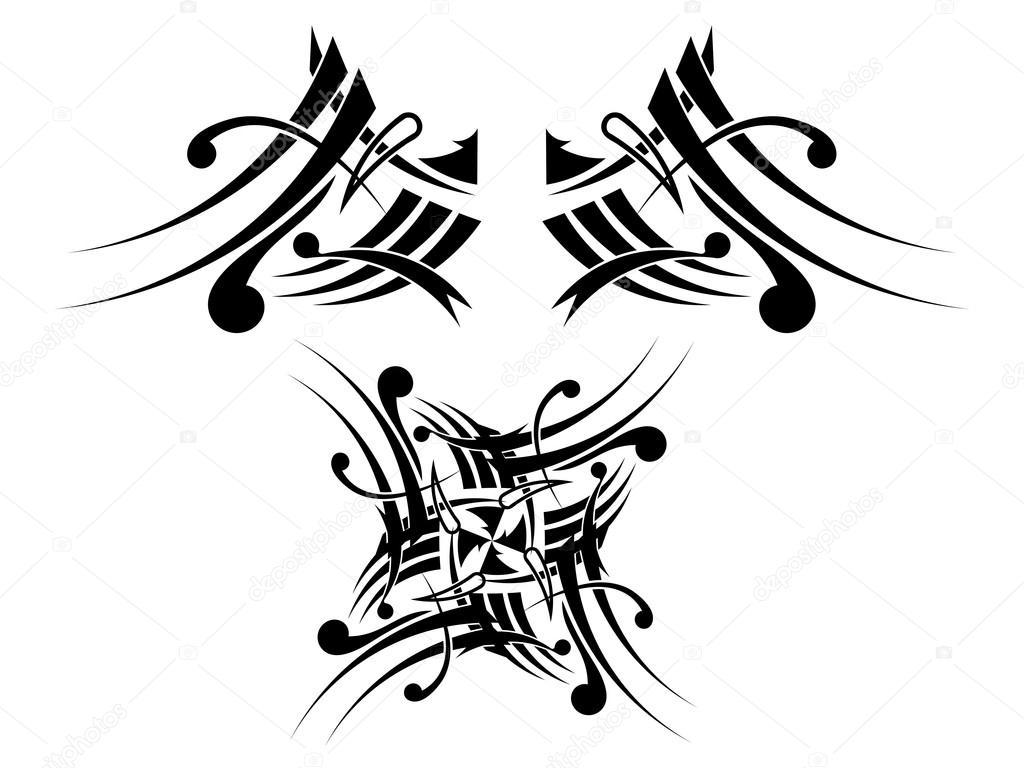 Imágenes Tribales En Blanco Y Negro Diseño De Tatuaje Tribal