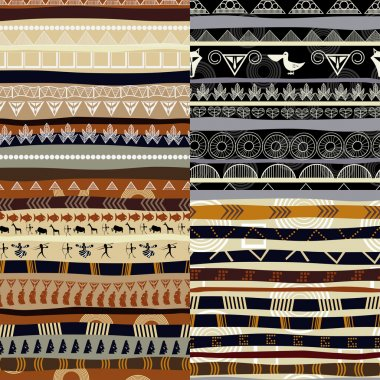 Set of tribal primitive african pattern