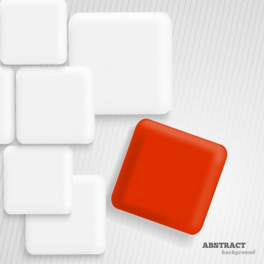 Abstract background with white and red squares