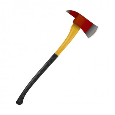 Fire ax on a white background