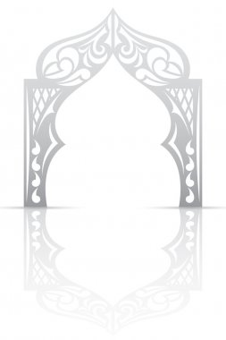 Abstract background with arch in the Asian style