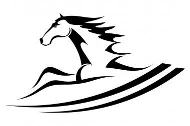 Horse tattoo symbol