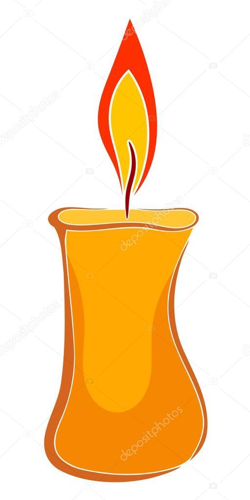 Bougie de cire de dessin anim image vectorielle - Dessin de bougies ...