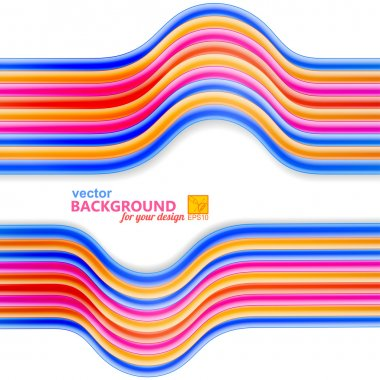 Bright abstract background with frame of wires. Vector illustrat