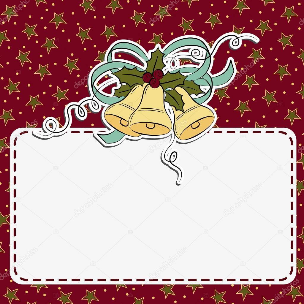 Cute christmas postcard template — Stock Vector © Embosser #16632989