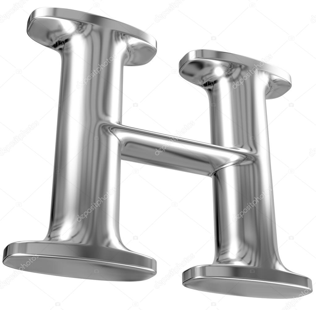 Metal Letter I Metal Letter H From Chrome Solid Alphabet Stock Photo © Smaglov