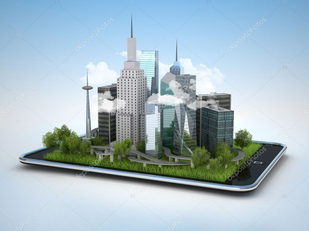 City on tablet pc