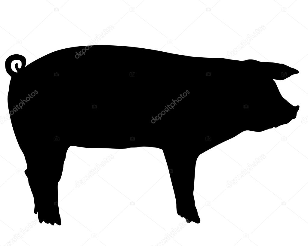 pig silhouette stock vector lantapix 44465299 rh depositphotos com  pig silhouette vector free download