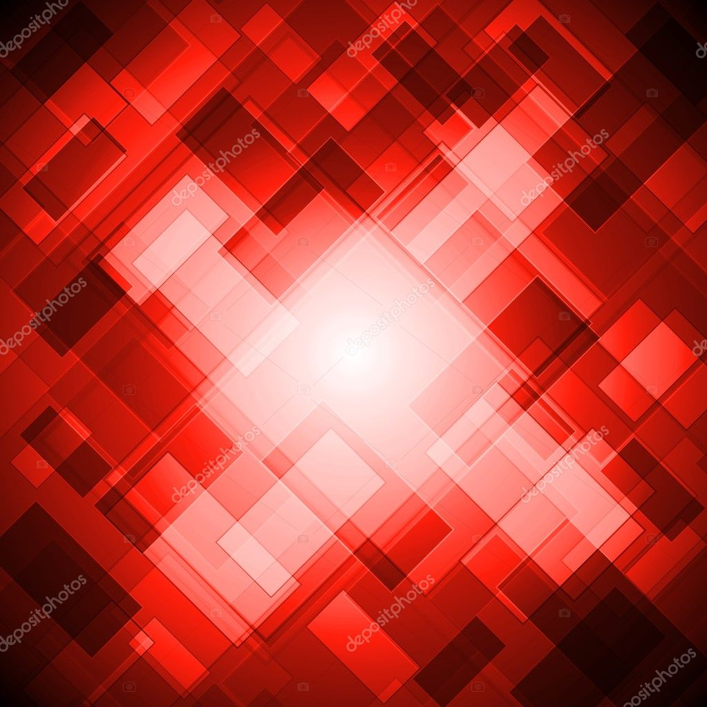 Bright red design