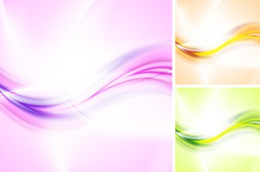 Bright waves backgrounds
