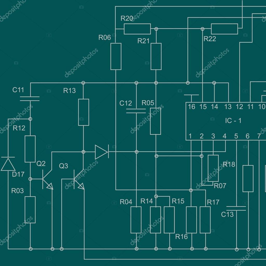 Schema Elettrico Phon : Sfondo schema elettrico u vettoriali stock saicle