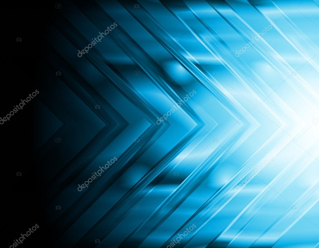 Abstract bright arrow