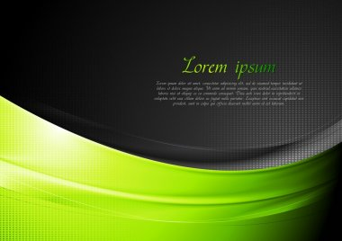 Green and black wavy background