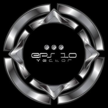 Abstract metallic shape logo