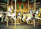 Fotografie Pferde auf dem Karnevalskarussell