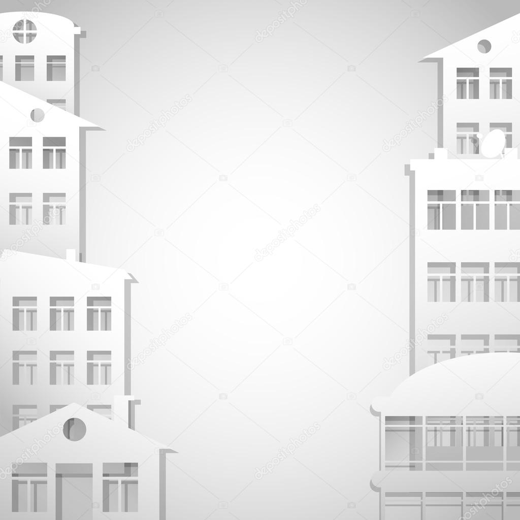 Houses Symbols As Real Estate Background Stock Vector Ghenadie