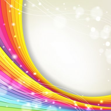 background with rainbow colors and sparkles