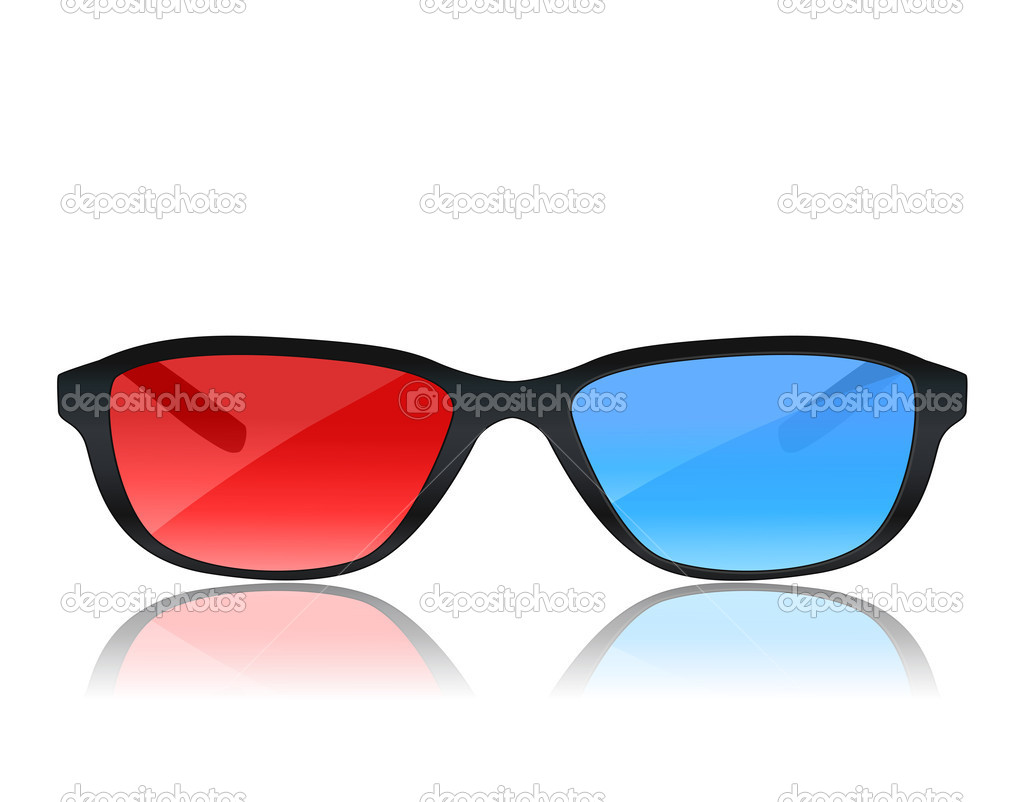 Realistic 3d glasses on white — Stock Vector © Ghenadie ...