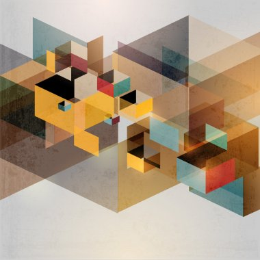 Retro geometric background clip art vector
