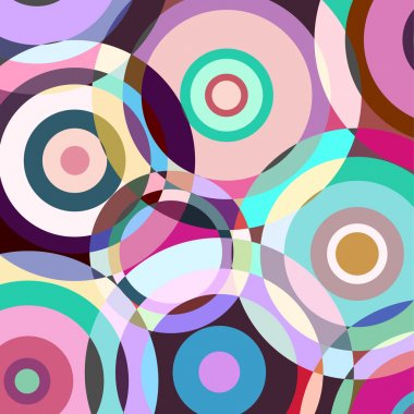 Colorful background of geometric shapes