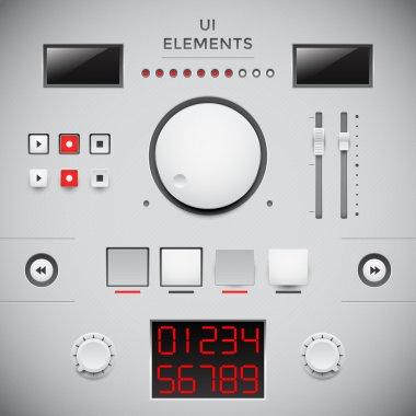 User web interface design. UI elements