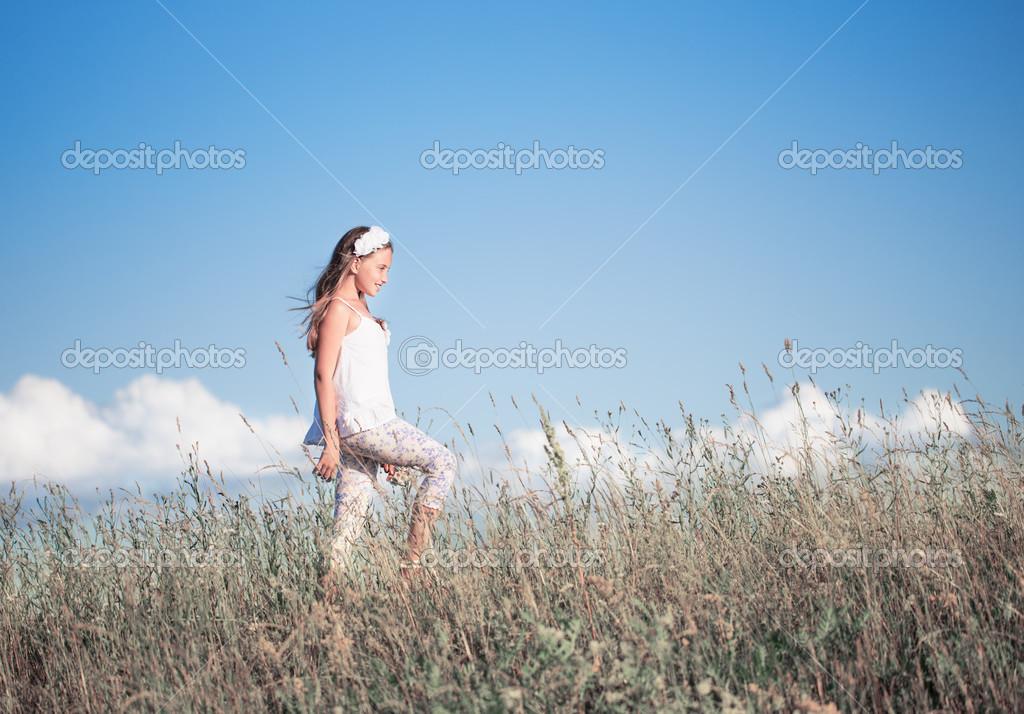 Beautiful girl outdoor