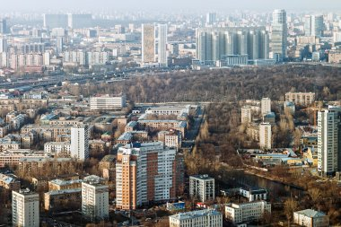 View of the modern buildings in Moscow