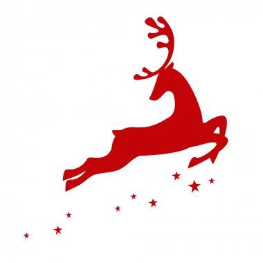 Red reindeer