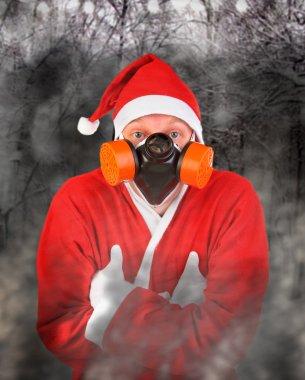 Santa Claus in Gas Mask