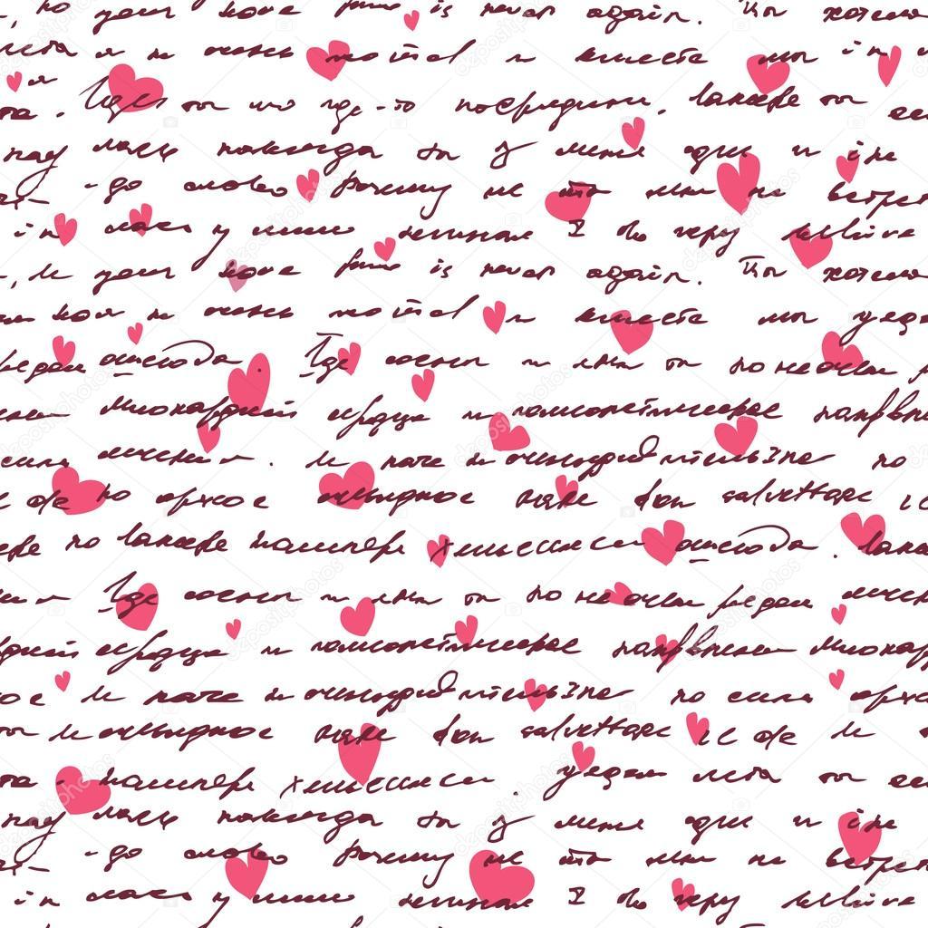 Dibujos Corazones Pequeños Fondo De Amor Con La Mano Dibujar