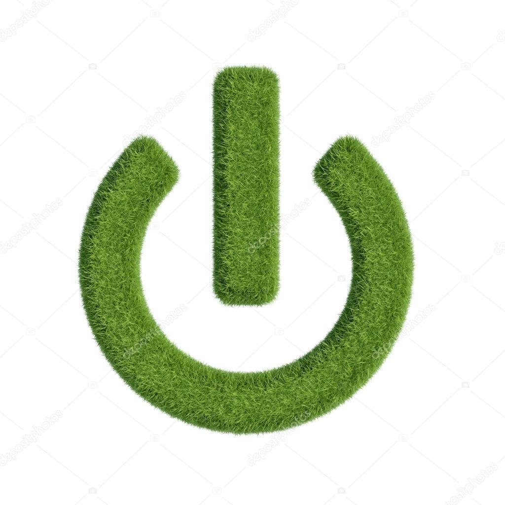 Start button from grass
