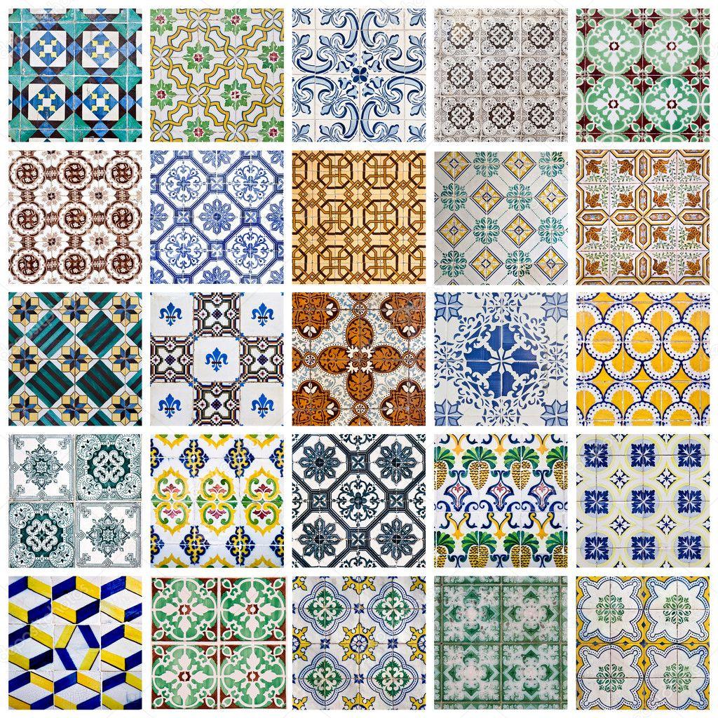 portugiesische fliesen collage stockfoto 32725099. Black Bedroom Furniture Sets. Home Design Ideas