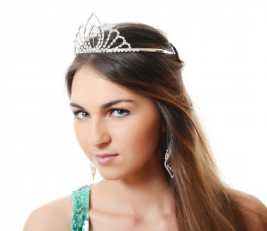 Woman with a tiara on a head