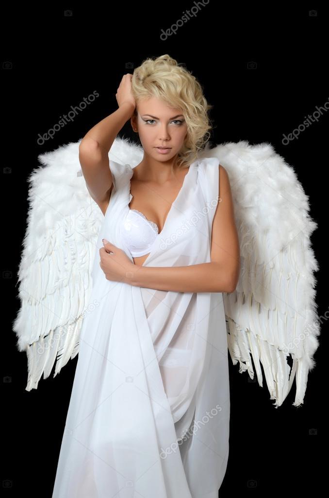 Эро фото девушек в костюмах ангелов #6