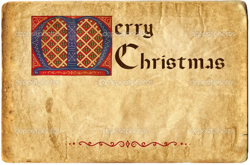 alte weihnachtskarte gothic schriftzug frohe weihnachten. Black Bedroom Furniture Sets. Home Design Ideas