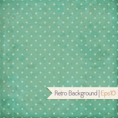 Vintage background. Polka dot