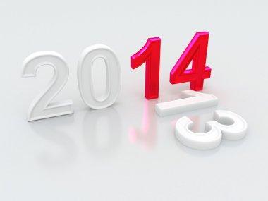 Happy New Year 2014. 3d stock vector