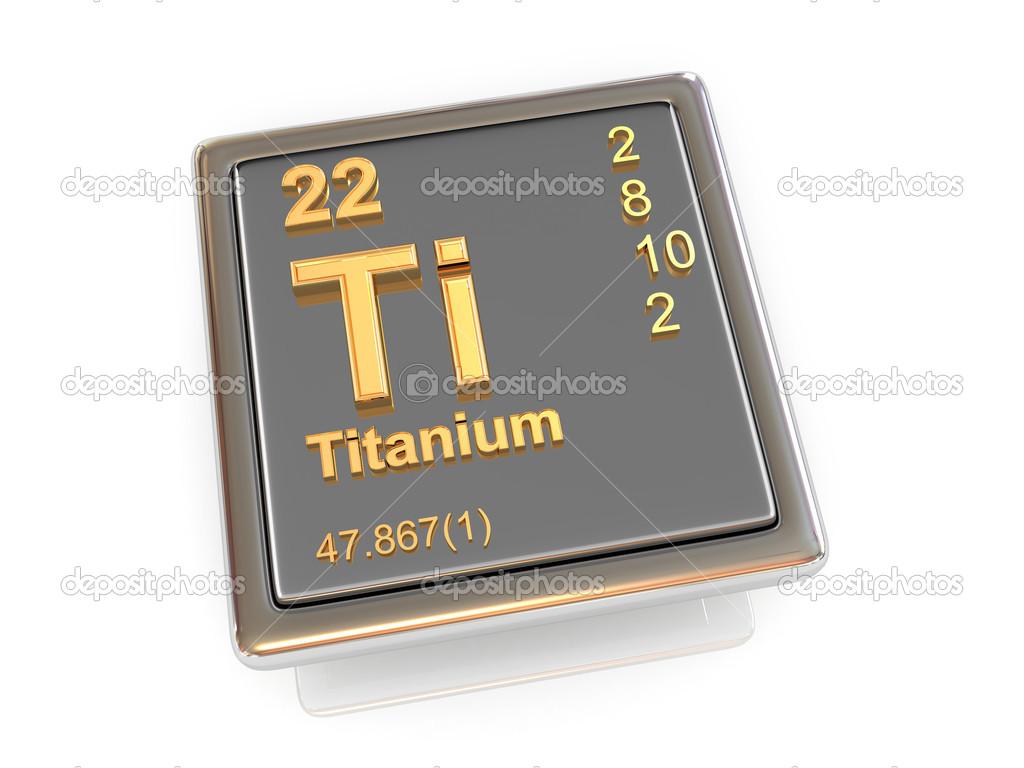 Stock Photo Titanium Chemical Element on Chemical Element