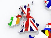 Térkép-ból Írország és Anglia