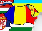 Map of Romania.