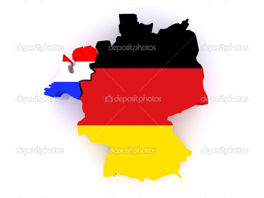 Map Of The Netherlands And Germany.Map Of Netherlands And Germany Stock Photo C Tatiana53 27780097