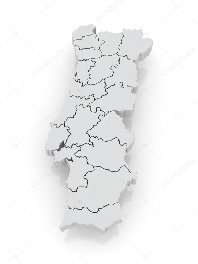mapa de portugal em 3d Three dimensional map of Portugal. — Stock Photo © Tatiana53 #30665793 mapa de portugal em 3d