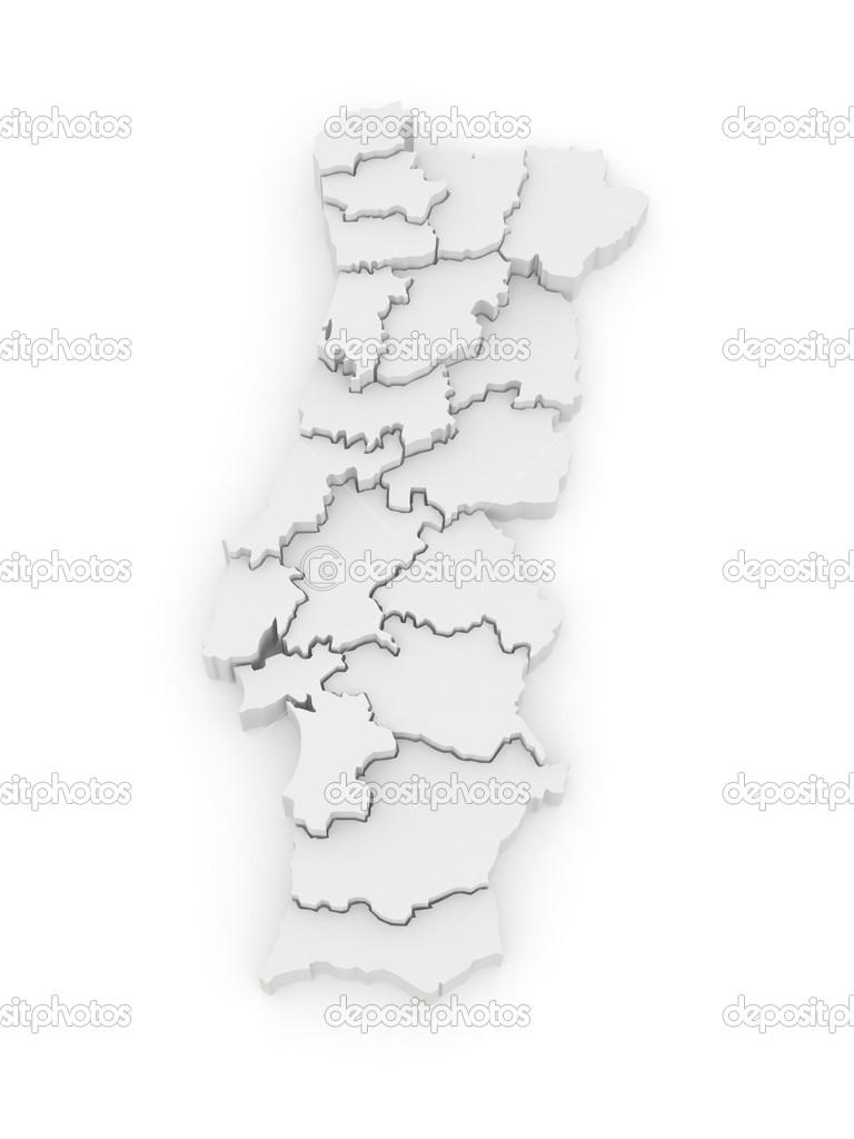 Three Dimensional Map Of Portugal Stock Photo C Tatiana53 34336985