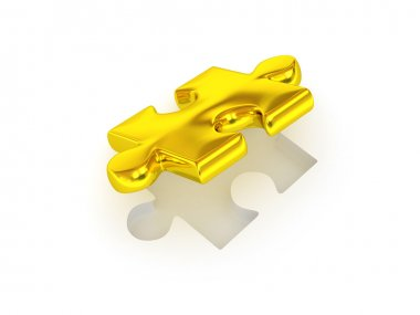 Puzzle. 3d stock vector