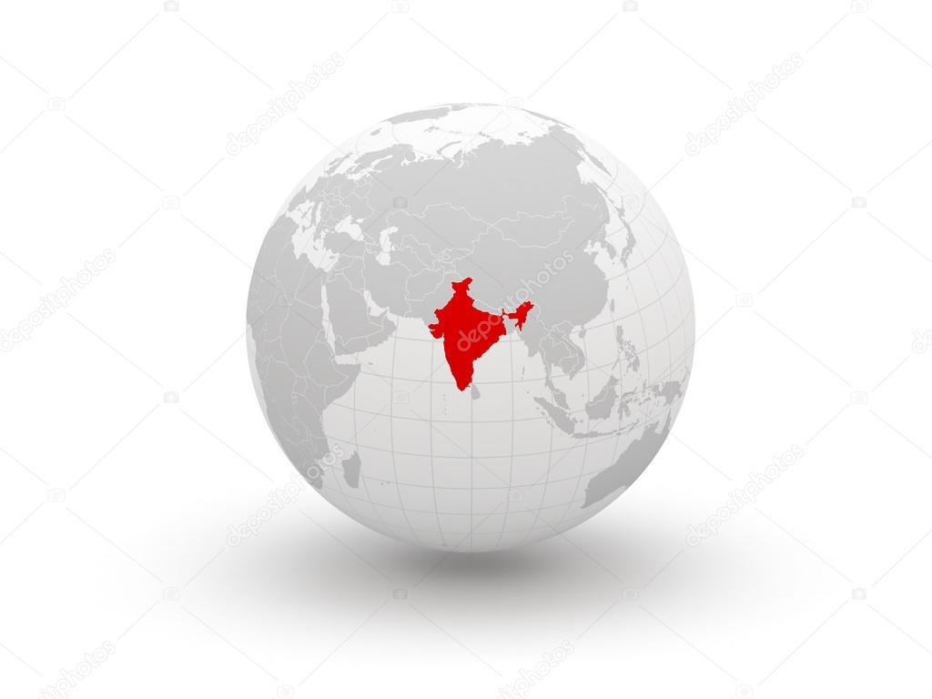 On The Globe India: Stockfoto © Tatiana53 #38996345