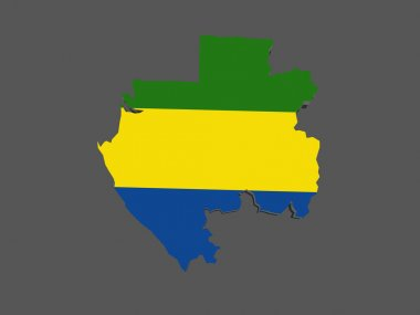 Map of Gabon.