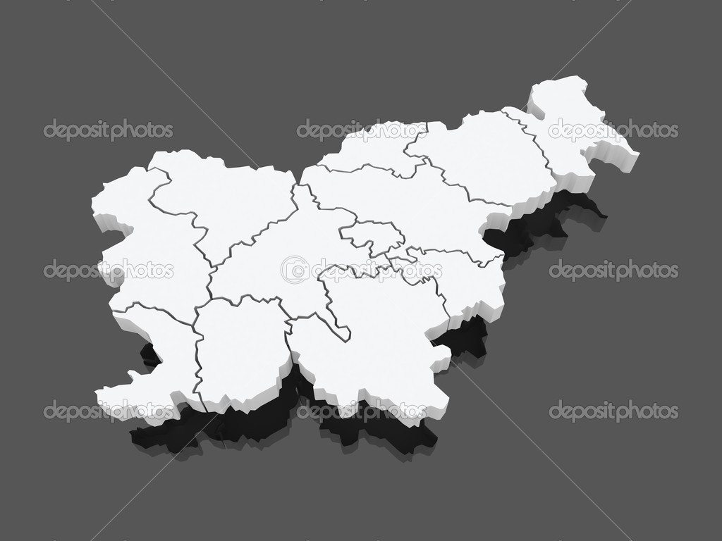 Map of Slovenia.