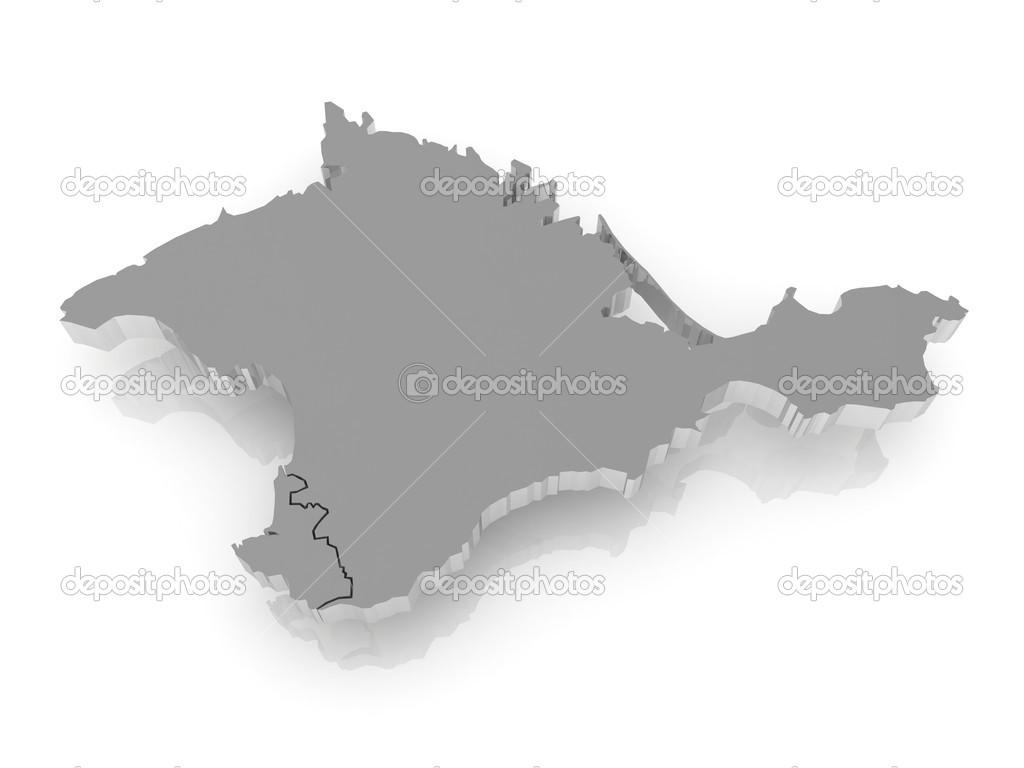 クリミア自治共和国の地図. — ス...