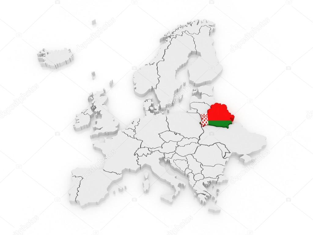 Carte Europe Bielorussie.Carte De L Europe Et De La Bielorussie Photographie
