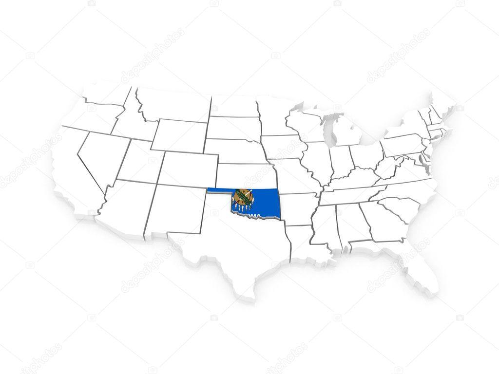 Three Dimensional Map Of Oklahoma Usa Stock Photo C Tatiana53